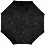 Mini-Taschenschirm Damen Flash Auf-Automatik - Dots schwarz