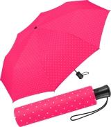 Mini-Taschenschirm Damen Flash Auf-Automatik - Dots pink