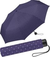 Super Mini Damen Taschenschirm Flash manual - Dots tiefviolett