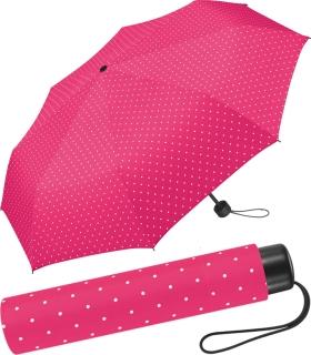 Super Mini Damen Taschenschirm Flash manual - Dots pink