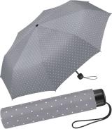 Super Mini Damen Taschenschirm Flash manual - Dots grau