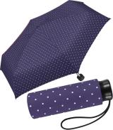 Ultra Mini Taschenschirm Damen Regenschirm Flash - Dots...