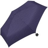 Ultra Mini Taschenschirm Damen Regenschirm Flash - Dots tiefviolett