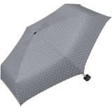 Ultra Mini Taschenschirm Damen Regenschirm Flash - Dots grau