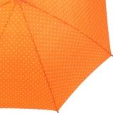 Flash Damen Stockschirm groß stabil mit Automatik - Dots orange