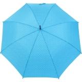 Flash Damen Stockschirm groß stabil mit Automatik - Dots hellblau