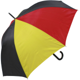Deutschland Regenschirm mit Automatik - Stockschirm groß und stabil - schwarz rot gold