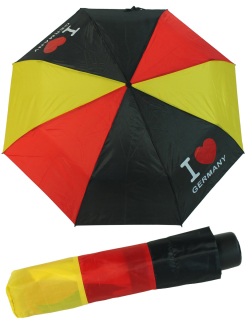 Deutschland Regenschirm Mini Taschenschirm Germany