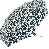 Bisetti Taschenschirm Regenschirm für Damen klein leicht - Script