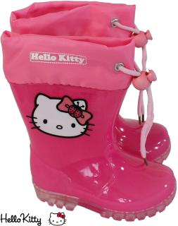 Kinder Gummistiefel für Mädchen - Hello Kitty - teil-transparent pink Gr. 32