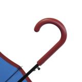 Bisetti edler Damen Stockschirm mit Automatik stabil 16-teilig Liso blue