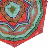 Bisetti Damen Taschenschirm Auf-Zu Automatik - Etnico Boho rot