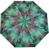 Bisetti Damen Taschenschirm klein leicht - Motiv Weltraum grün