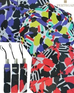 Edler Damen Vollautomatik-Taschenschirm von PERTEGAZ mit Chromgriff - Artwork