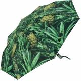 M&P Damen Taschenschirm Regenschirm stabil Auf-Zu-Automatik Fotografico - Ananas