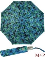 M&P Damen Taschenschirm Regenschirm stabil Auf-Zu-Automatik Fotografico - Eukalyptus
