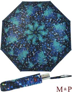 M&P Damen Taschenschirm Regenschirm stabil Auf-Zu-Automatik Fotografico - Palme