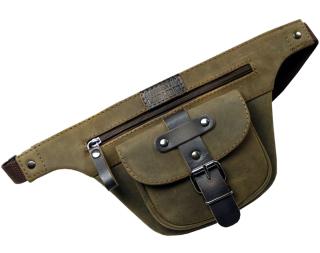 LandLeder BOONDOCKS Büffelleder Gürteltasche Hüfttasche braun