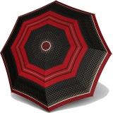 Knirps Regenschirm Fiber T2 Duomatic - Rain Dots Granat