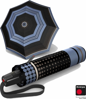 Knirps Regenschirm Fiber T2 Duomatic - Rain Dots Opal
