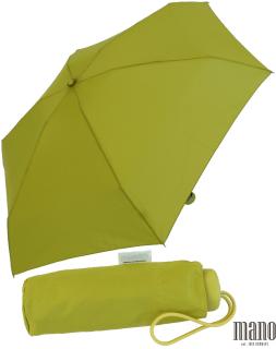 Mano Regenschirm Mini Taschenschirm Damen leicht lime