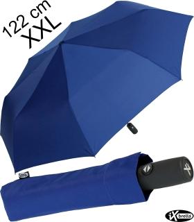 iX-brella full class 122cm XXL Damen-Herren Taschenschirm mit Auf-Zu-Automatik blau
