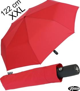 iX-brella full class 122cm XXL Damen-Herren Taschenschirm mit Auf-Zu-Automatik rot