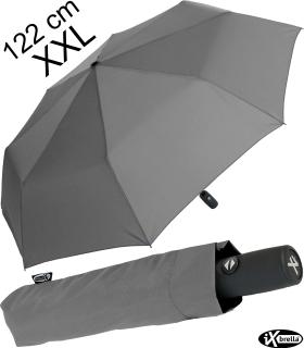 iX-brella full class 122cm XXL Damen-Herren Taschenschirm mit Auf-Zu-Automatik business-grau