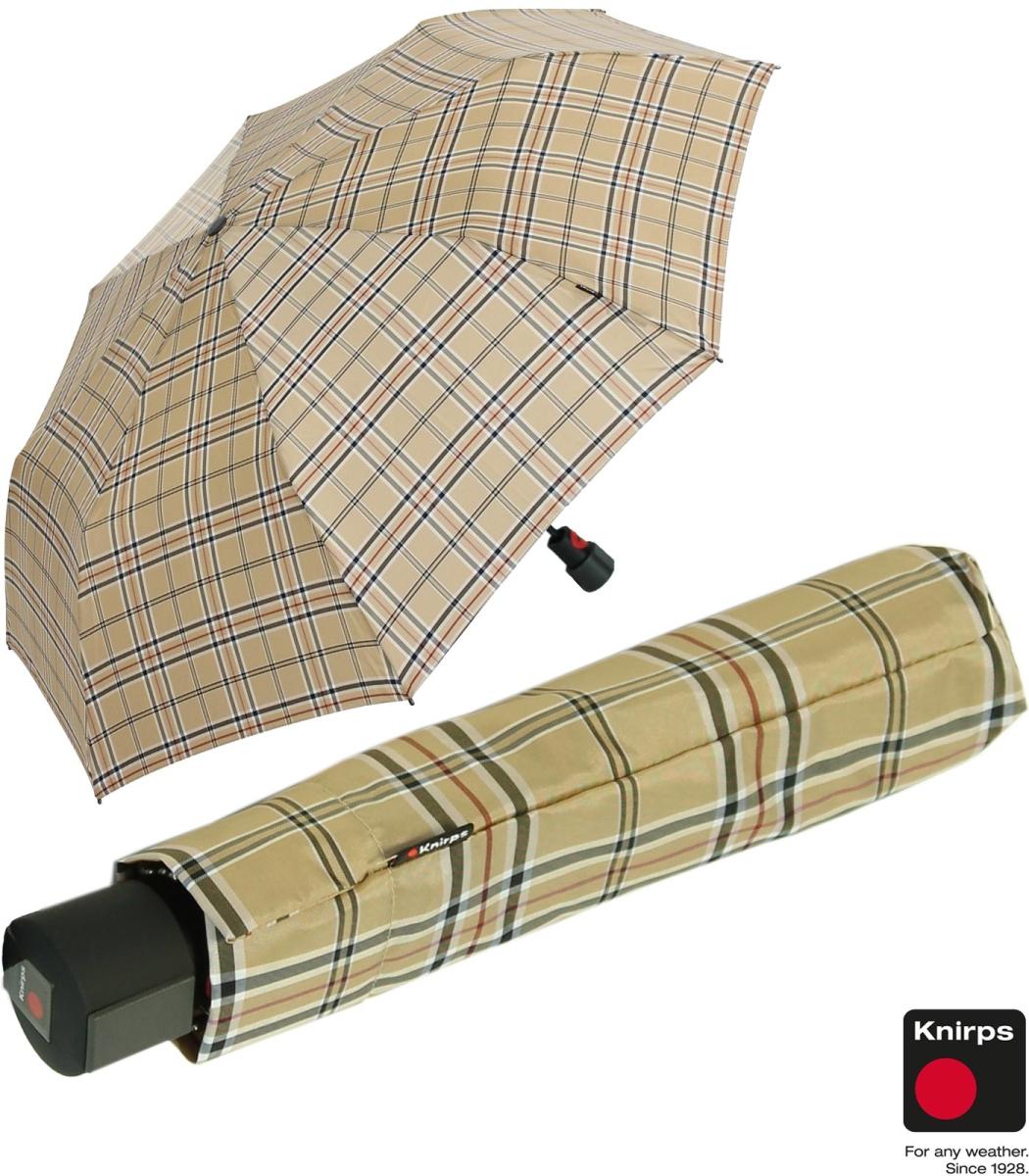 knirps regenschirm fiber t1 automatik sturmsicher karo beige 39 95. Black Bedroom Furniture Sets. Home Design Ideas