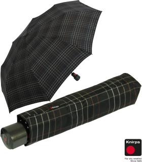 Knirps Regenschirm Fiber T1 Automatik - Sturmsicher Karo schwarz