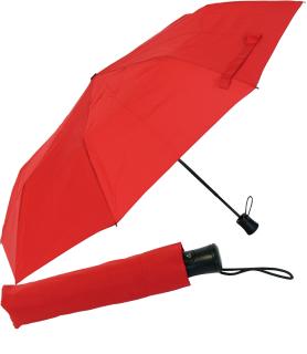 RS-Mini Taschenschirm für Damen und Herren Auf-Automatik rot