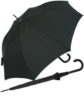 RS-Stockschirm groß stabil für Damen und Herren mit Automatik schwarz