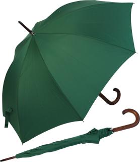RS-Regenschirm Holzstock groß stabil für Damen und Herren mit Automatik grün