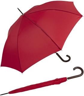 RS-Regenschirm Holzstock groß stabil für Damen und Herren mit Automatik rot