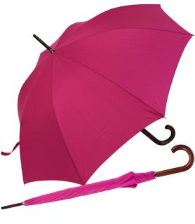 RS-Regenschirm Holzstock groß stabil für Damen und Herren mit Automatik pink