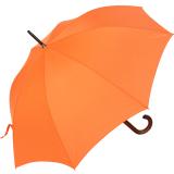 RS-Regenschirm Holzstock groß stabil für Damen und Herren mit Automatik orange