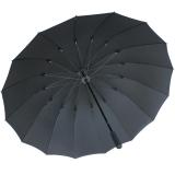 iX-brella leichter 16-teiliger Golf-Partnerschirm - XXL mit Softgriff einfarbig schwarz