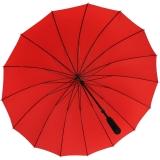 iX-brella leichter 16-teiliger Golf-Partnerschirm - XXL mit Softgriff einfarbig rot