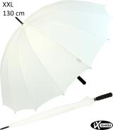 iX-brella leichter 16-teiliger Golf-Partnerschirm - XXL mit Softgriff einfarbig weiß