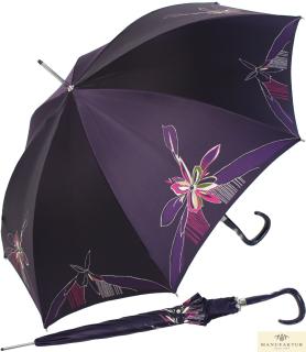 Doppler Manufaktur Damen Stockschirm Elegance Satin VIP Automatik - purple flower