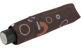 Doppler Mini Taschenschirm Havanna sturmfest leicht - Party Rings chocolat