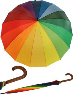 Schirm Golf Partnerschirm XXL Regenbogen