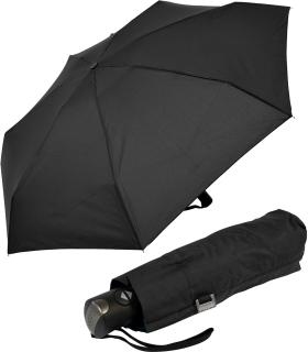 Doppler Mini Taschenschirm Magic Carbonsteel XS - klein stabil sturmfest - Auf-Zu Automatik - schwarz