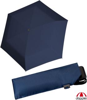 Doppler Mini Slim Damen Taschenschirm - extrem flach - uni marine