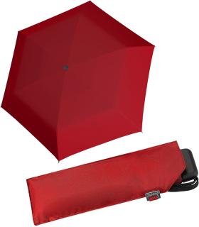 Doppler Mini Slim Damen Taschenschirm - extrem flach - uni rot