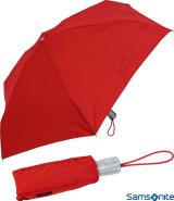 Samsonite Taschenschirm Auf-Zu Automatik Mini Alu Drop 4 rot