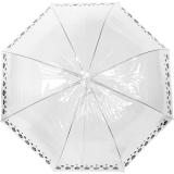 Damen Regenschirm durchsichtig transparent mit Automatik...