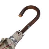 Doppler Manufaktur Regenschirm Kastanie - Karo beige
