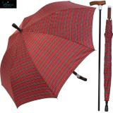 Gastrock Stock im Schirm verstellbar -  Stützschirm klein Safebrella Karo rot