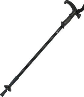 Gastrock Gehstock Teleskopstock mit Stoßdämpfer Vario-Combi-Antishock, schwarz